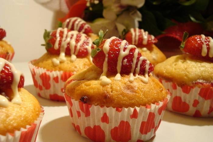 Muffini s jagodama i bijelom čokoladom