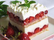 Lagani ljetni kolač s jagodama