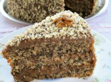 Retro karamel torta sa orasima